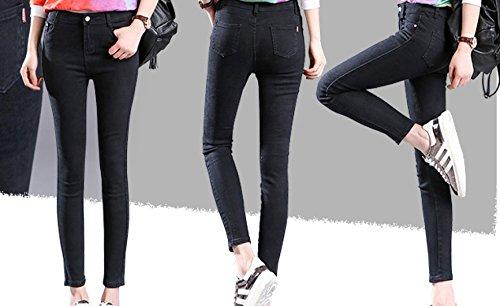 Tagliati Donna Matita Calzamaglia Snfgoij Bianchi Waichuan Pantaloni Vita A Con Da Jeans Leggings Blacktrousers qwpHF4