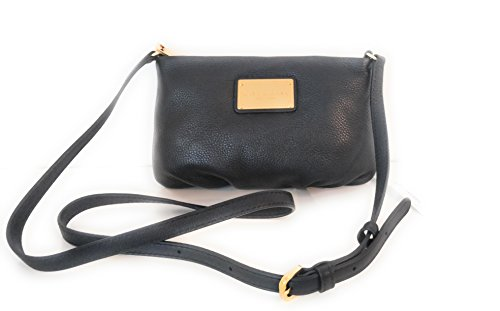 Marc Jacobs Percy Leather Crossbody (Black) ()