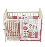 4-Piece Pink Crib Bedding Set