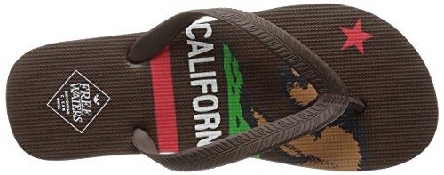 Freewaters Mens Tommy Print Flip Flop Sandal Brown/California Flag dufNh6y