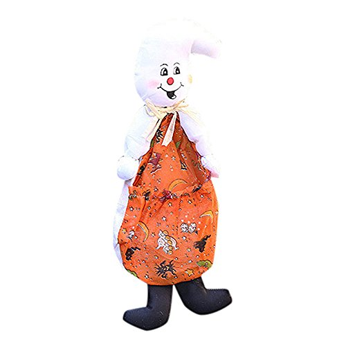 Halloween Doll Ornaments Children Gifts Scene Decoration Witch Pumpkin Ghost Ornaments (orange)