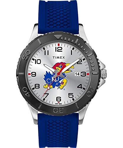 Timex Men's Kansas Jayhawks KU Gamer Watch Silicone Watch - Kansas Jayhawks Sport Steel Watch