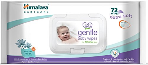 Himalaya Gentle Baby Wipes, 72 Wipes