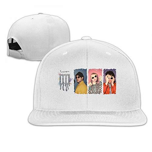 WilliamBurton Paramore Unisex Womens Men Fashion Flat Brim Snapback Plain Cotton Baseball Caps Youth Headgear White