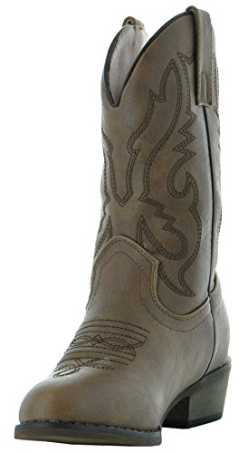 Country Love Little Rancher Kids Cowboy Boots K101-1001 (10, Brown) by Country Love Boots (Image #5)