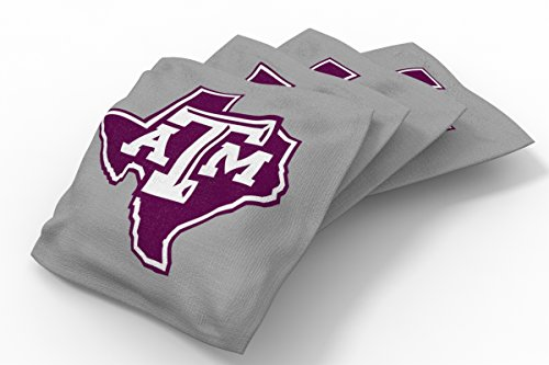 Wild Sports NCAA College Texas A&M Aggies Gray Authentic Cornhole Bean Bag Set (4 Pack)