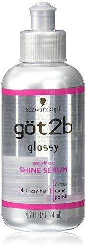Got2b Glossy Anti-Frizz Shine Hair Serum, 4.2 Ounce - Frizz Hair Serum