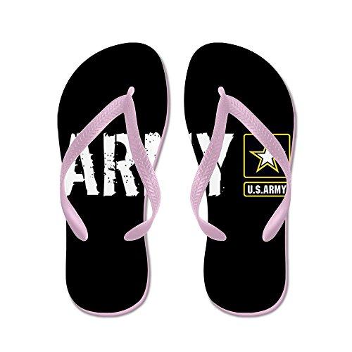 Esercito: Esercito (nero) - Infradito, Divertenti Sandali Infradito, Sandali Da Spiaggia Rosa