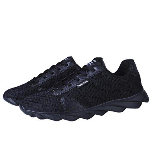 De Loisirs De Course Rond Chaussures Chaussures Maille Croix Noir Mode Sport De Hlhn Bande Sport Sangle À Respirant Du Bout Casual Lacets Hommes À De xwqRn1w