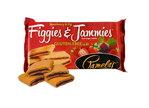 Pamelas Products Gluten Free Figgies & Jammies Cookies, Strawberry and Fig, 9 Ounce (Pack of 6)