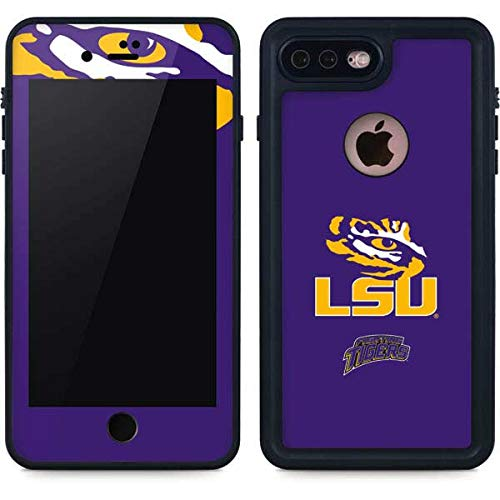 Lsu Tigers Beverage - Skinit LSU Tiger Eye iPhone 8 Plus Waterproof Case - Officially Licensed Phone Case - Fully Submersible - Snow, Dirt, Water Protected iPhone 8 Plus Cover