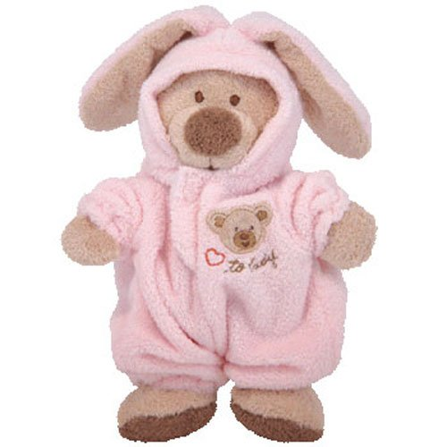 Baby Ty - PJ Bear Pink Small