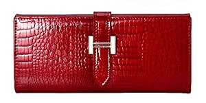 Exist Live Luxurious Crocodile Animal Print Evening Clutch Purse,Colors Available,Red