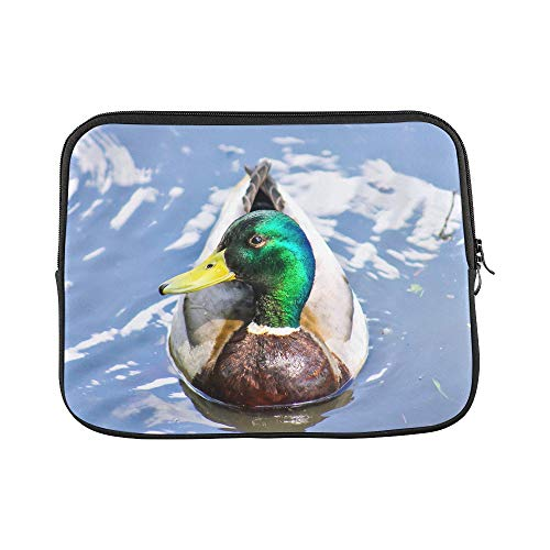 - Design Custom Duck Licking Pointed Mouth Cute Water Animal Yellow Paw Mallard Funny Sleeve Soft Laptop Case Bag Pouch Skin for MacBook Air 11