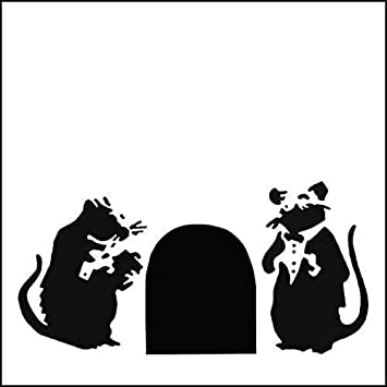 Design 17x18.5cm // Home Decor Art Painting Stencil Banksy Rat Stencil//Radar Rat A4 Sheet Size