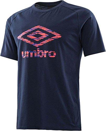 位置づける満員スナッチumbro (アンブロ) URA. ビッグロゴコットンS/S シャツ ULULJA61 NVY 1801