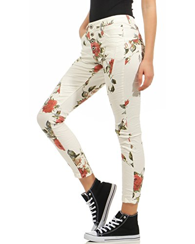 poches Blanc Boygy Boyfriends Jeans Femmes Destroyed Pantalon Stretch Hipster NEWPLAY Look Cinq vPZxw5qPO