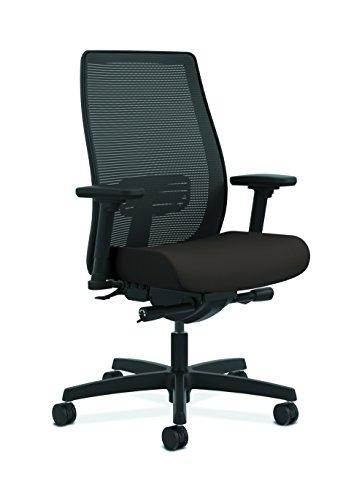 HON Endorse Mesh Mid-Back Task Chair | Built-In Lumbar | Synchro-Tilt, Seat Glide | Espresso Fabric Espresso Mesh Seat