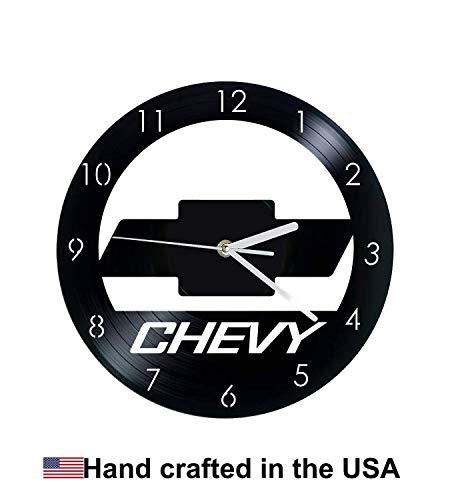 Vinyl Clock, Chevy, Chevrolet, Christmas gift, Wall clock, vinyl record clock