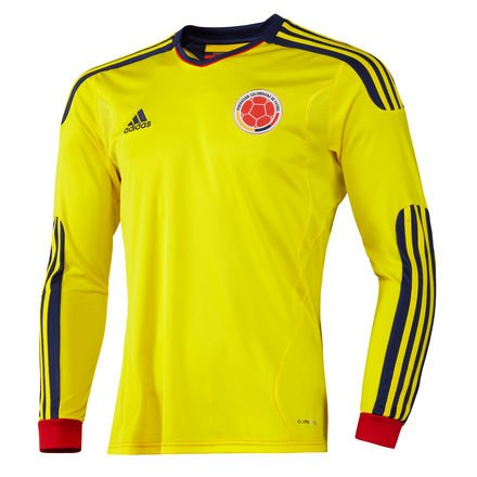 Amazon.com : Adidas Colombia Home Jersey LS Long sleeve (L) Camiseta Seleccion Colombia Manga Larga : Soccer Jerseys : Sports & Outdoors