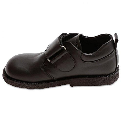 Angulus Single Strap Boys Shoe Black