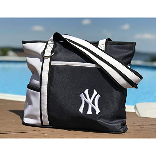 (MLB New York Yankees Tote Bag with Embroidered Logo)