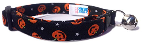 Breakaway Cat Collar in Halloween Pumpkins (U.S.A. (Halloween Cat Collar)