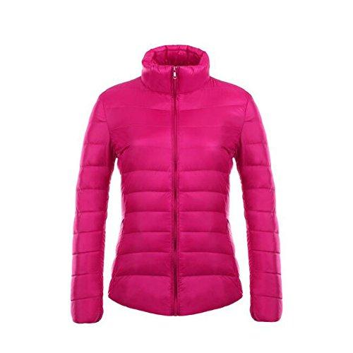 Puffer Stand Femme Ake Weatherproof Ultra Blousons Rose Doudoune light Collar Manteau CWSqX