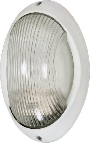 Nuvo Lighting 60/570 Bulkhead 1-Light Large Oval Energy Star CFL, Semi Gloss White