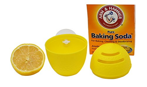 Lemon Fresh Refrigerator Freshener | Citrus and Baking Soda Holder - by - Dishwasher Soda Baking