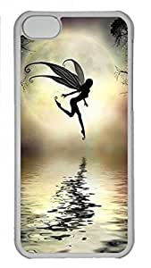 LJF phone case Transparent Hard Plastic Case for iPhone 5C,Water Fairy Case Back Cover for iPhone 5C