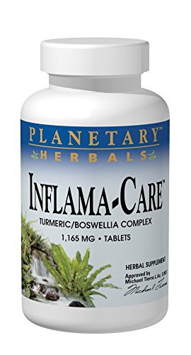 Planetary Herbals Inflama-Care 1165mg Turmeric/Boswellia Complex - 120 Tablets
