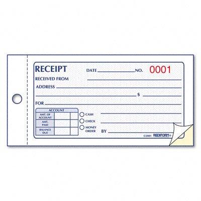 Money Receipt Book, 50 Sets/Book [Set of 3]