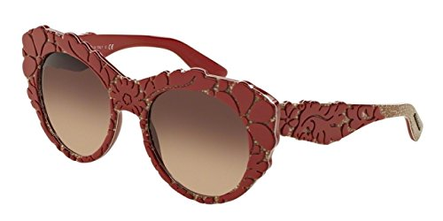Dolce and Gabbana DG4267 299913 Red Texture Tissue DG4267 Cats Eyes - Gabbana Eye Dolce Cat Sunglasses &