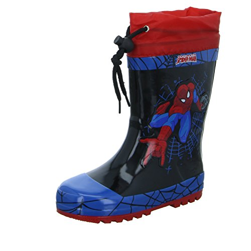 Spiderman SP004526-CL9 Jungen Regenstiefel Schwarz (Schwarz)