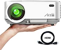 ARTLII Retroprojecteur 2000 lumens LED HD 1080p