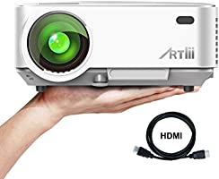 ARTLII Retroprojecteur 2000 lumens LED HD 1080p