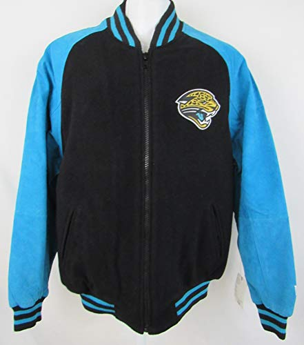 G-III Sports Jacksonville Jaguars Mens Size Medium Soft Leather/Suede & Wool Embroidered Jacket AJJS 77