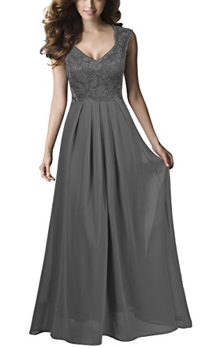 REPHYLLIS Women Sexy Vintage Party Wedding Bridesmaid Formal Cocktail Dress (XL, Grey)