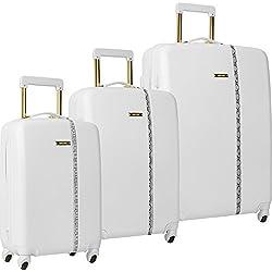 Nine West Noelle 3 Piece Hardside Spinner Luggage Set (White)