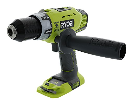 Best Impact Drill (Ryobi P214 One+ 18 Volt Lithium Ion 1/2 Inch, 600-Pound Torque Hammer Drill (Batteries Not Included / Power Tool Only))