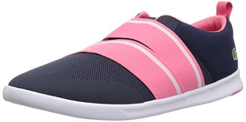 (Lacoste Women's Avenir Slip 118 1 SPW Sneaker, Navy/Pink, 9 M)