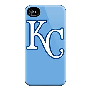 Anti-Scratch Hard Cell-phone Cases For Apple Iphone 4/4s (EtN595AQrz) Custom Attractive Kansas City Royals Skin