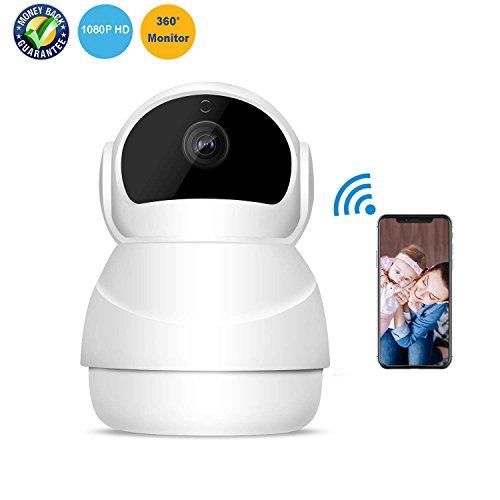 Cámara IP HD 1080P WiFi Cámara de seguridad inalámbrica interior con visión nocturna Detección de movimiento Audio...