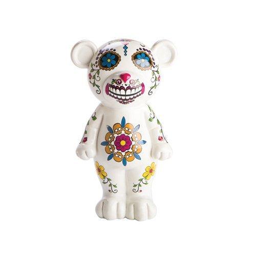 White Candy Skull Bear Money Box