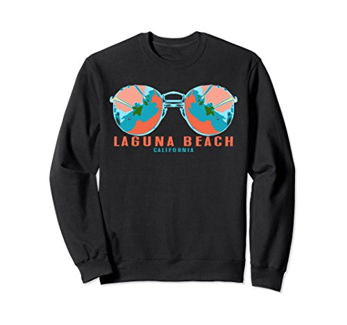 Unisex Laguna Beach California Sunglasses Souvenir Sweatshirt Small - Glasses Dun