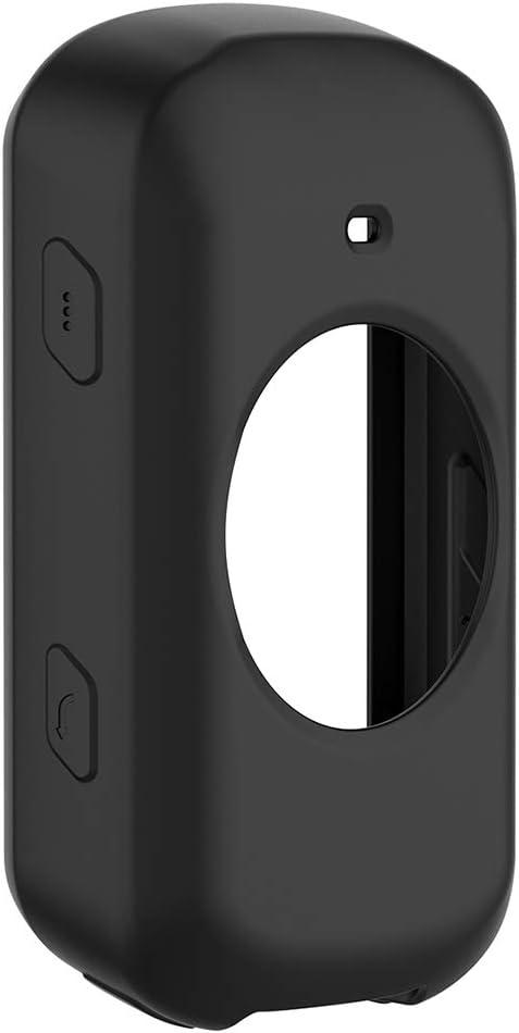 perfk Coques pour Garmin Edge 530 Smartwatch Noir Bumper Coque de Protection Silicone pour Garmin Edge 530