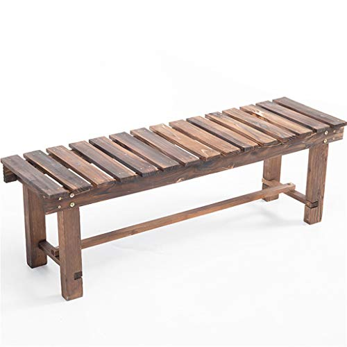 G-HJLXYZWJHOME Wooden Bench Change Shoe Bench - Forest Garden Forest Sleeper Bench ()