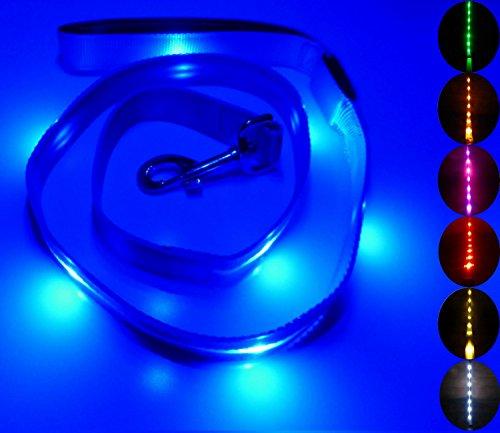 GoDoggie GLOW Colors Rechargeable Reflective Leash