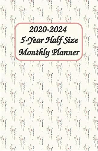 Amazon.com: 2020 - 2024 5-Year Half Size Monthly Planner 5.5 ...